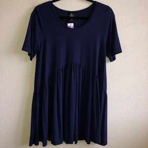 NWT Agnes and Dora Navy Muse Top